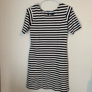 French Connection - Black & White Striped Dress